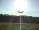 The dish had to be airlifted to the EME site