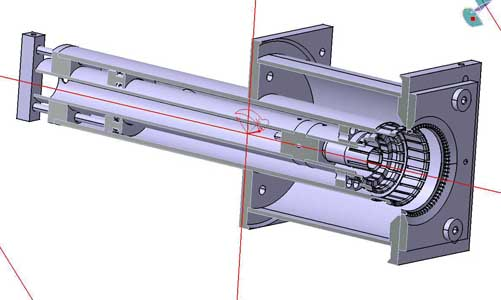 Thjis is a more educational view of the mechanical design of a RF cavity for 23cm