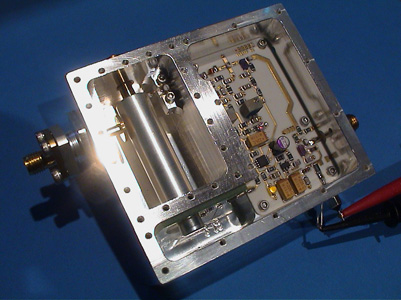The silver plated body with ceramic printed board